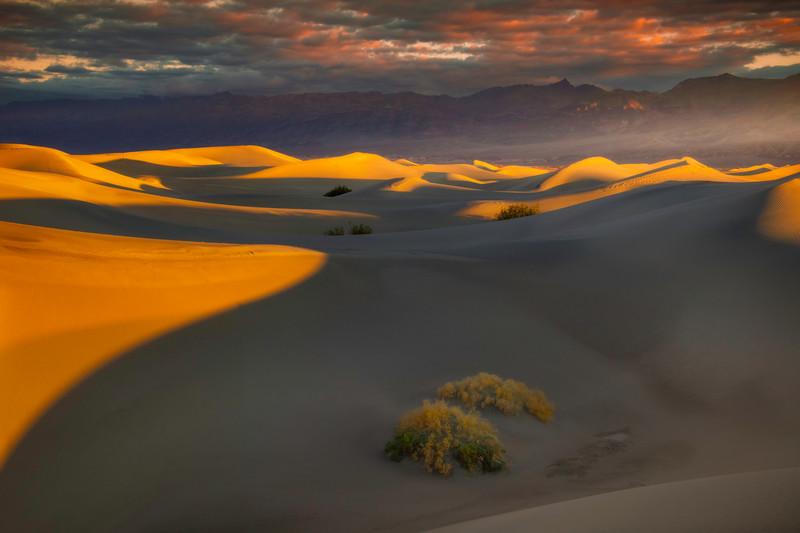 Moments Of Lights And Shadows Within The Dunes - Death Valley National Park, Eastern Sierras, California