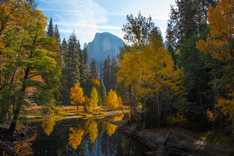 Half Dome From Sentinel Bridge - Lower Yosemite Valley, Yosemite National Park, California