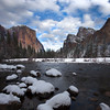 Yosemite Winter Rocks_Valley