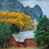 Yosemite Chapel In Autumn - Yosemite National Park, Eastern Sierras, California
