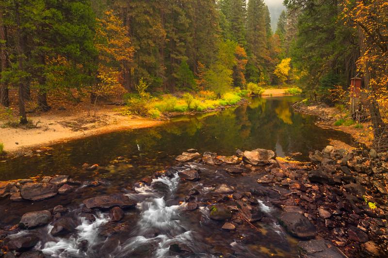 Colors From Pohono Bridge - Lower Yosemite Valley, Yosemite National Park, CA