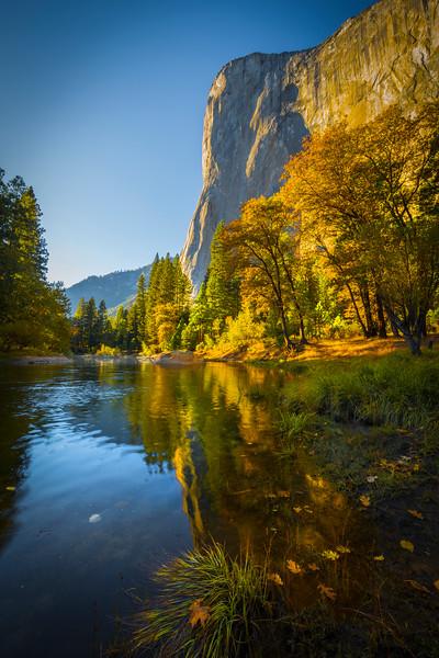 Northside Cathedral Beach Facing El Captain - Yosemite National Park, Eastern Sierras, California