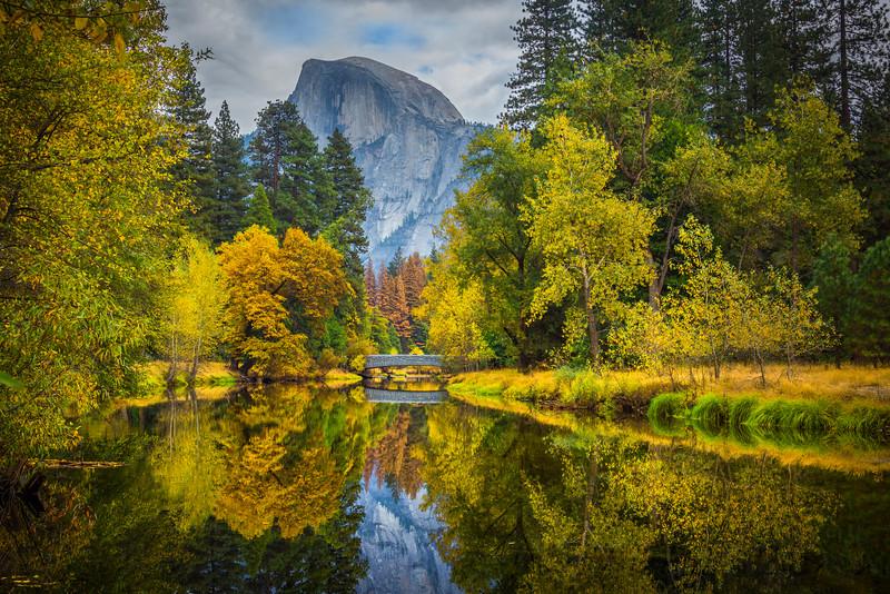 Sentinel Bridge And Half Dome_Horizonal - Yosemite National Park, Eastern Sierras, California