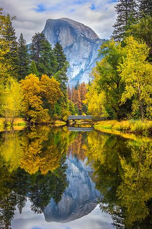 View Of Sentinel Bridge And Half Dome - Yosemite National Park, Eastern Sierras, California