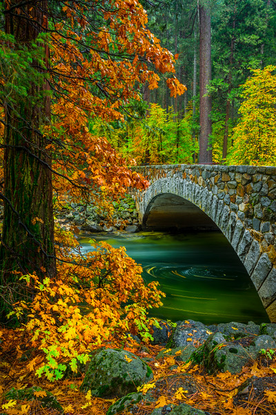 Long Exposure Under Pohono Bridge - Yosemite National Park, Eastern Sierras, California