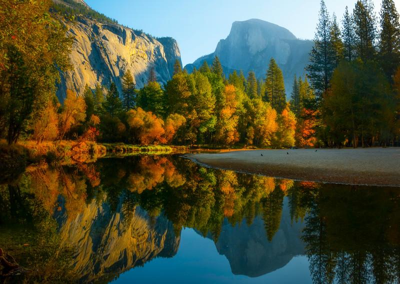 Light Reflected In Merced - Yosemite National Park, California