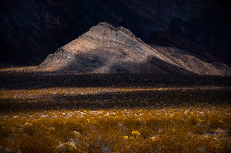 Spotlight Showcase On Landscape Peaks - Funeral Mountains Wilderness, Death Valley National Park, California