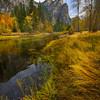 Looking At Three Brothers From Shoreline From Tahiti Beach - Yosemite National Park, Eastern Sierras, California