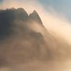 Swirls Of Evaporated Mist Surround Peaks - Death Valley National Park, California