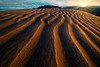 Snake Patterns Into The Sunset - Death Valley National Park, Eastern Sierras, California
