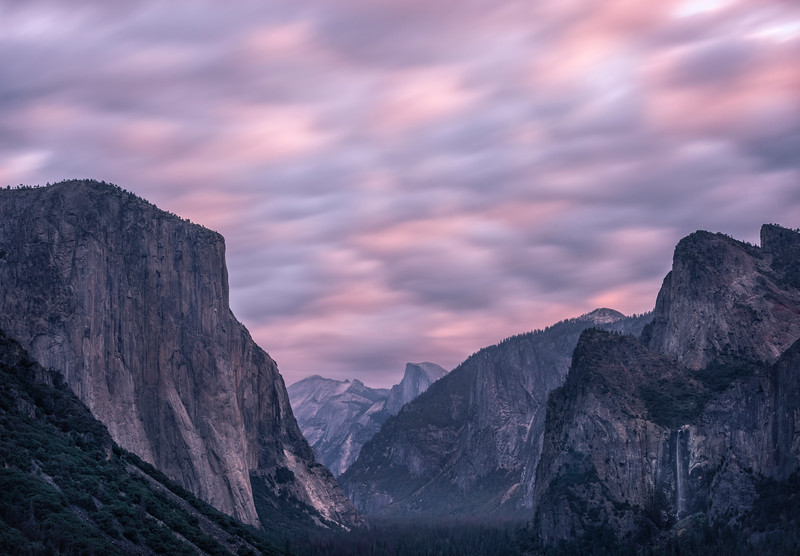 Long Exposure Over The Valley - Lower Yosemite Valley, Yosemite National Park, CA