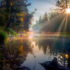 Sunray Morning On The Merced - Lower Yosemite Valley, Yosemite National Park, CA