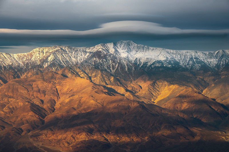Lenticular Clouds Buildng Up Over Telescope Peak - Death Valley National Park, Eastern Sierras, California