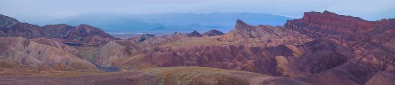 Panorama Of Zabriskie Point - Death Valley National Park, California