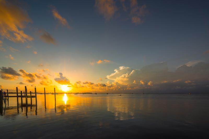Sunset Over Key Largo Harbour -  Key Largo, Florida Keys, Florida