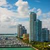 Towers Surround Biscayne Bay - Downtown Miami, Florida