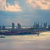 The Miami Port In Late Light - Downtown Miami, Florida