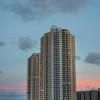 Hangin Cloud Over Tower At Sunset - Downtown Miami, Florida