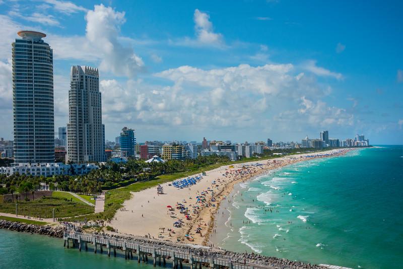 The Miami South Beach Skyline - Downtown Miami, Florida