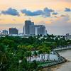 Twilight Colors Over Bayfront Park In MIami - Downtown Miami, Florida