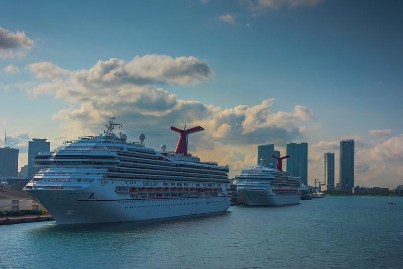 Miami Port Traffic Jam -  Miami Pier, Florida