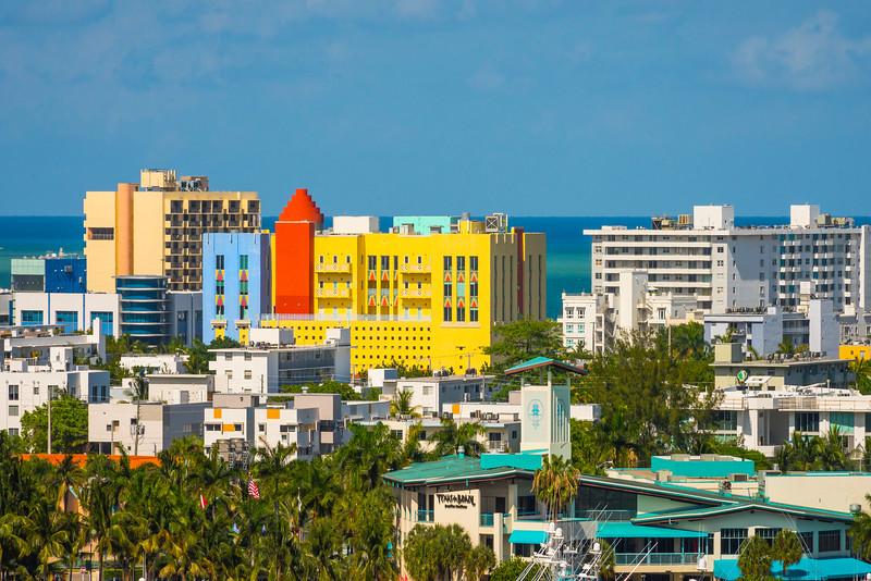 The Art Deco Area Of South Beach - Downtown Miami, Florida