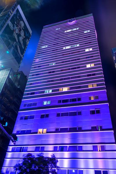 The Purple Lights Of Downtown Miami - Downtown Miami, Florida