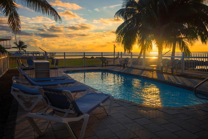 Sunset At The Pool - Marathon, Florida Keys, Florida
