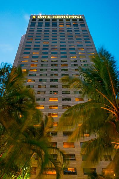 The Intercontinental At Night - Downtown Miami, Florida