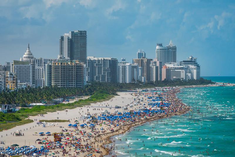 South Beach Traffic - Downtown Miami, Florida