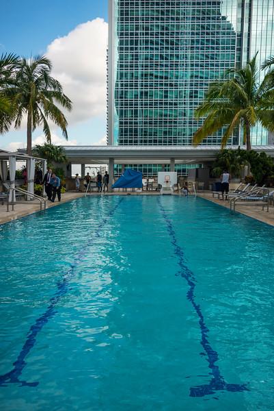 The Conrad Hotel Pool - Downtown Miami, Florida