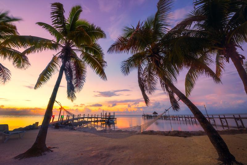 Twilight Pink Silence Over The Harbour - Marathon, Florida Keys, Florida