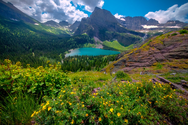 Grinnell Lake From The Glacier Trail - Grinnell Glacier Trail, Glacier National Park, Montana