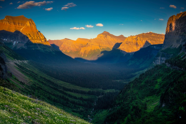 Inside The Lower Valley Near Sunset -  Going To The Sun Road, Glacier National Park, Montana
