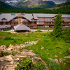 Looking Down On Many Glacier Lodge From Hil - Swiftcurrent Lake, Many Glacier, Glacier National Park, Montana