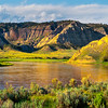 Last Light On Canyon Walls Of Missouri Breaks Upper Missouri River Breaks Monument, Fort Benton, Montana
