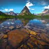 Underwater Skipping Stones - Swiftcurrent Lake, Many Glacier, Glacier National Park, Montana