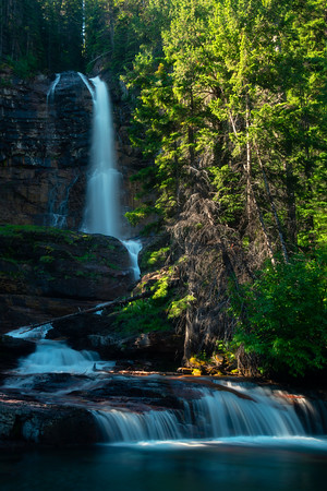 At The Base Of Virginia Falls - Virginia Falls, Glacier National Park, Montana