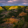 Morning Light Across The Canyon - Makoshika State Park, Glendive, Eastern Montana