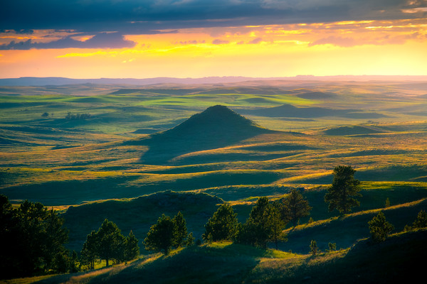 Sunset Light From Medicine Rocks - Medicine Rocks State Park, Eastern Montana