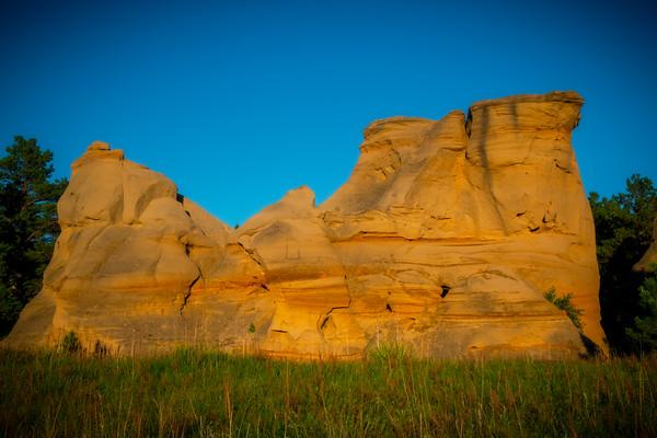Medicine Rocks In Late Afternoon Light - Medicine Rocks State Park, Eastern Montana