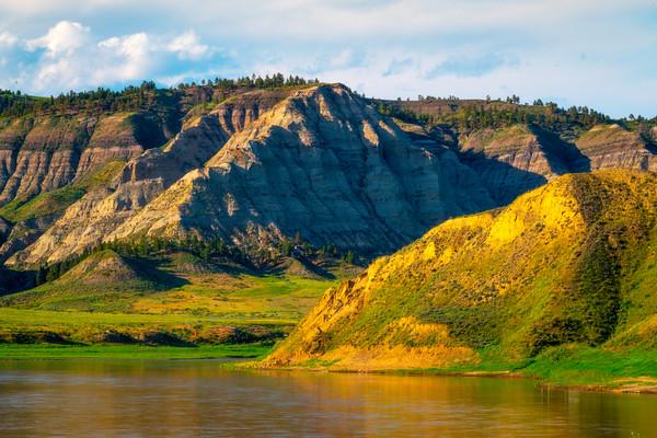 Down On The Missouri Breaks River Upper Missouri River Breaks Monument, Fort Benton, Montana