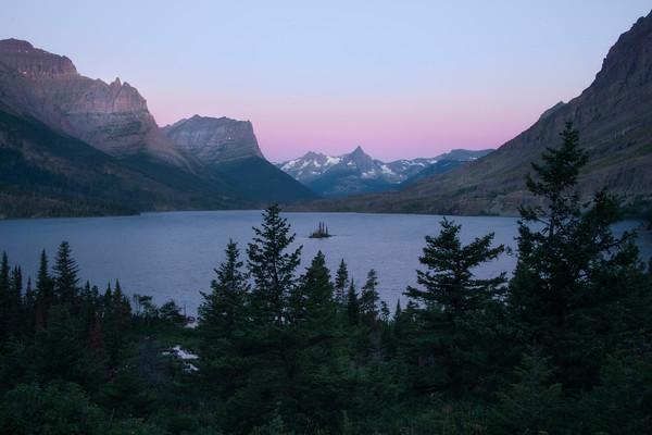 Wild Goose Lookout Sunrise From Top - Wild Goose Island Lookout, Saint Mary's Lake, Glacier National Park, Montana