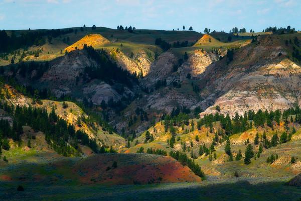 Casting Of Light On Hills - Hell Creek State Park, Jordan, Montana