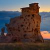 Light Under The Clouds Shining On Medicine Rocks - Medicine Rocks State Park, Eastern Montana