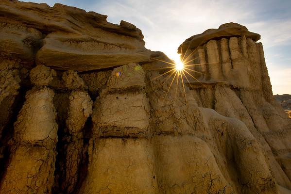 Sunburst Thru The Hoodoos -  Bisti/De-Na-Zin Wilderness, New Mexico