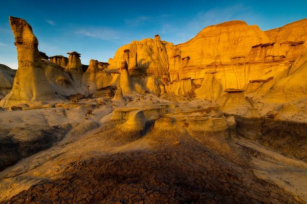 Stepping Cascades Of Hoodoos -  Bisti/De-Na-Zin Wilderness, New Mexico