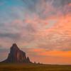 ShipRock At Sunrise Glory - Shiprock, New Mexico