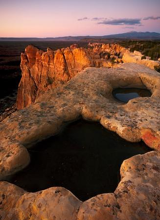 Sandstone Bluffs In El Malpais NM - El Malpais National Monument, Grants, New Mexico