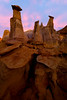 Hoodies Up Against The Pink Sky -  Bisti/De-Na-Zin Wilderness, New Mexico
